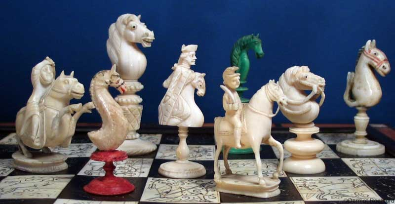 Antique Chess Sets Boards Antiques